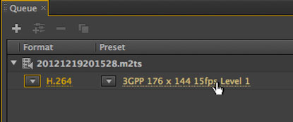 Just click on the words in the Preset section to launch the Export Settings window.