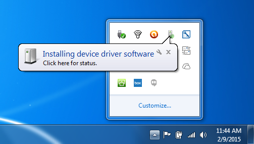Installing Driver - Windows