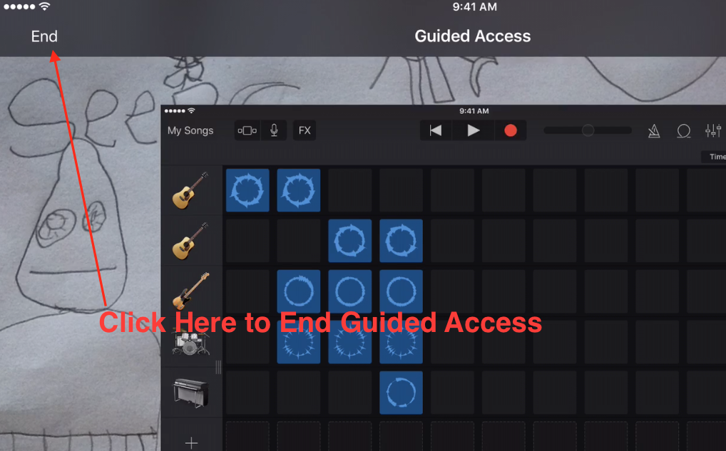 Guided Access End