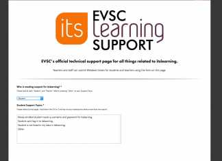 itslearning Tech Support Page Debut