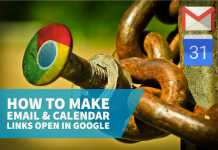 How to make email & calendar links open in Google