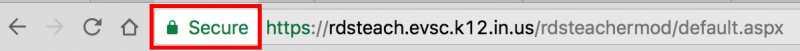 Google Chrome - SSL Secure Button